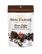 Load image into Gallery viewer, Kona Coffee Dark Chocolate Macadamia Nuts 10 oz - BOGO!
