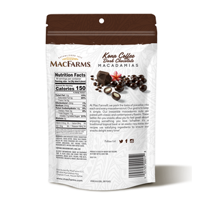 Kona Coffee Dark Chocolate Macadamia Nuts 10 oz - BOGO!