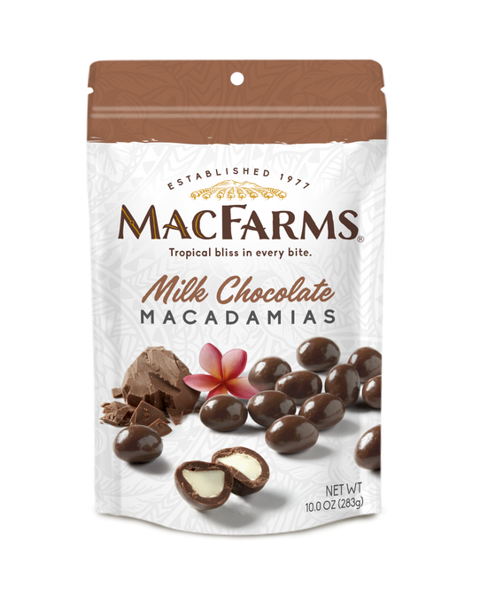 Milk Chocolate Macadamia Nuts 10 oz