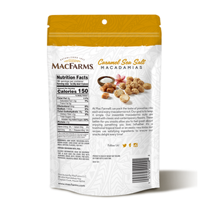 Caramel Sea Salt Macadamia Nuts 10 oz