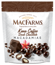 Load image into Gallery viewer, Kona Coffee Dark Chocolate Macadamia Nuts - 28oz. Family Size