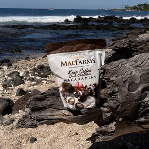 Kona Coffee Dark Chocolate Macadamia Nuts - 28oz. Family Size
