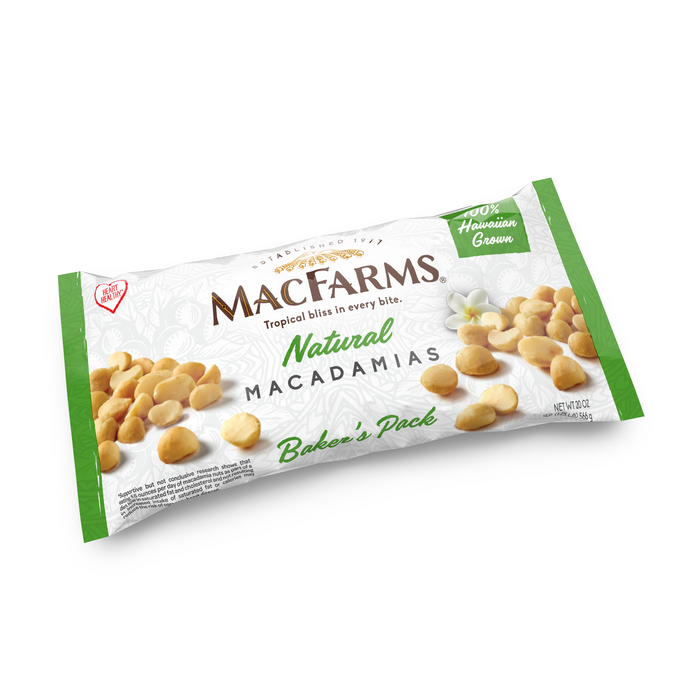 Natural Macadamia Nut 20oz. Baker's Pack