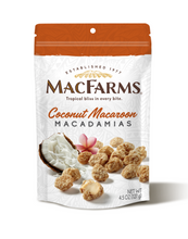Load image into Gallery viewer, Coconut macaroon macadamias - front