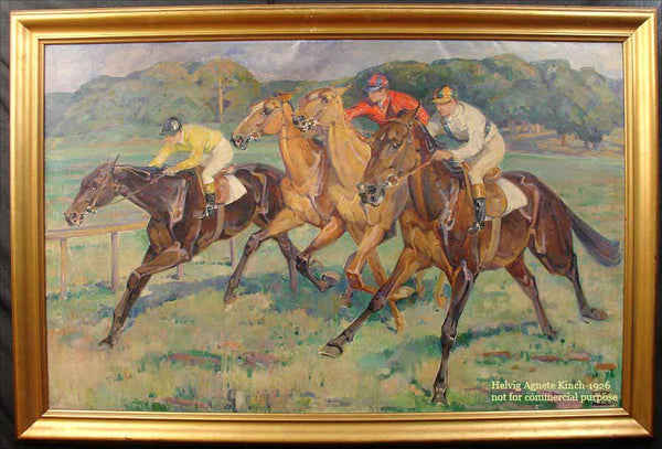 """Helvig Agnete Kinch - """"At The Race"""" 1926"""