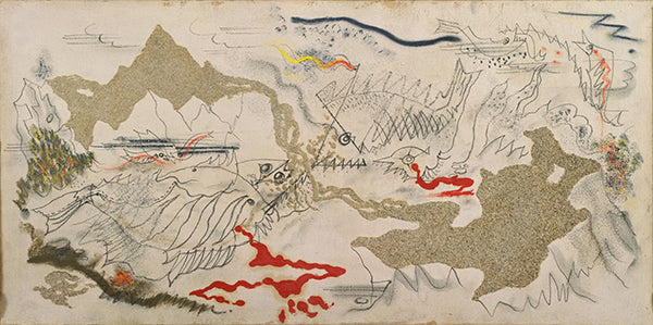 """""""Battle of Fishes"""" (1926) của họa sĩ André Masson"""