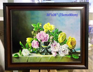 Still life painting collection of flowers - Thế giới Hội họa
