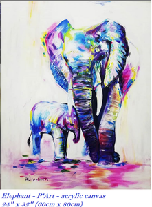 Painting collection of elephant - Thế giới Hội họa