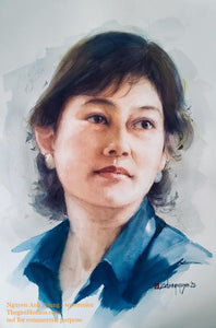Portrait painting from photo - Thế giới Hội họa