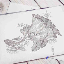 Load image into Gallery viewer, a cute sketch of custom fish tattoo