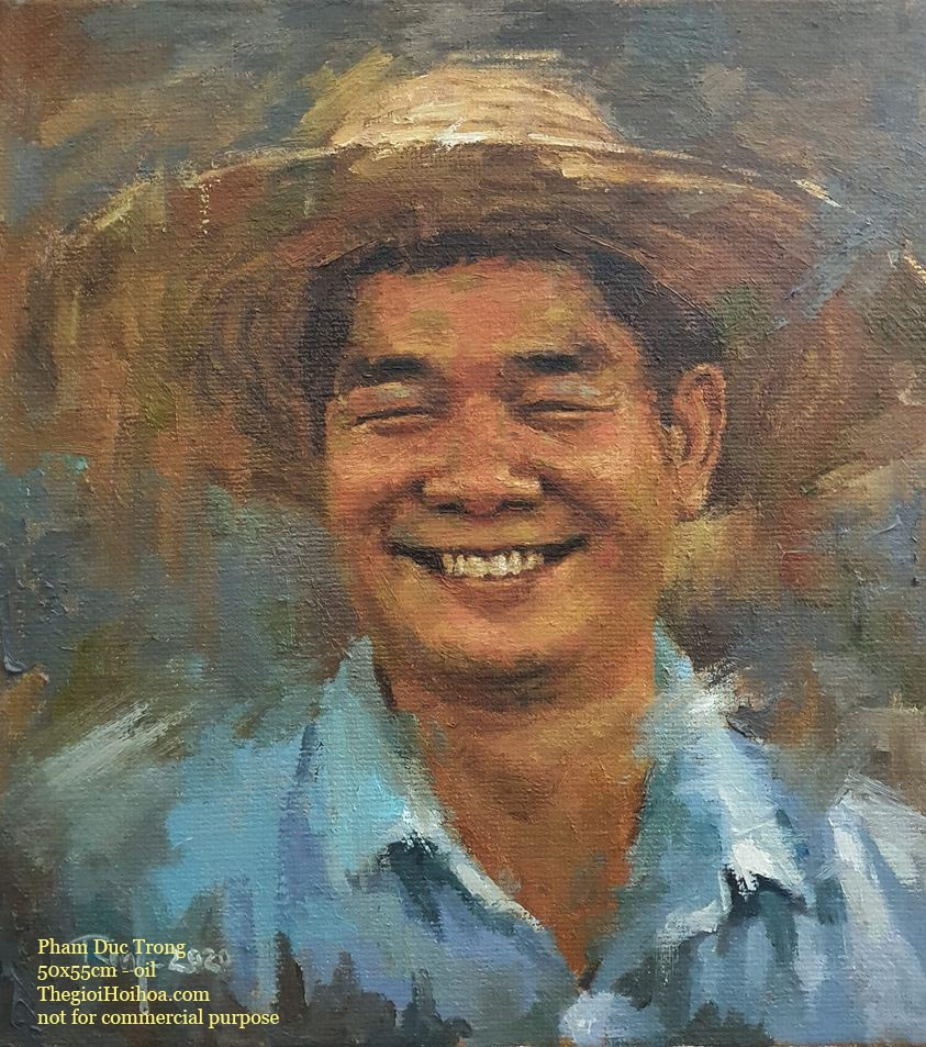 Custom portrait painting from photo - Thế giới Hội họa