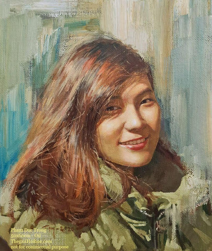 Custom portrait painting from photo - 1 - Thế giới Hội họa
