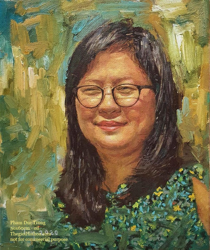 Custom portrait painting from photo - 5 - Thế giới Hội họa