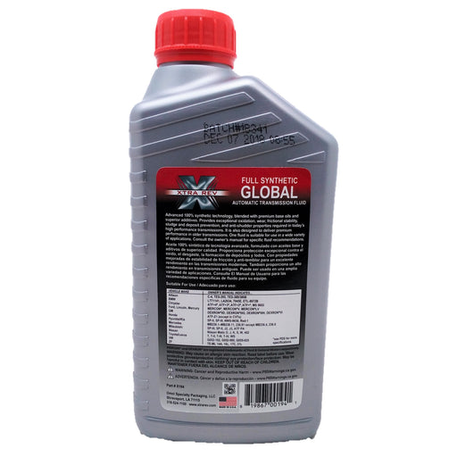 Aceite Xtra Rev ATF Full Sintetico Global Transmision Automatica 946mL - Transmisiones Veinte 07