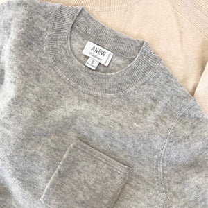Cashmere Pocket Sweater in Flint