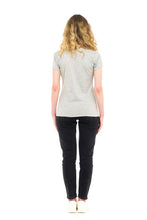 Load image into Gallery viewer, sustainable women's tee shirt organic cotton grey