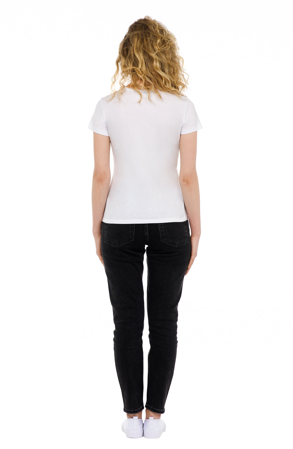 sustainable women's tee shirt organic cotton white