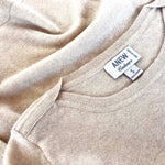 Cashmere Boatneck Sweater in Sandstone