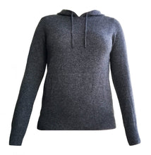 Load image into Gallery viewer, Cashmere Hoodie in Charcoal