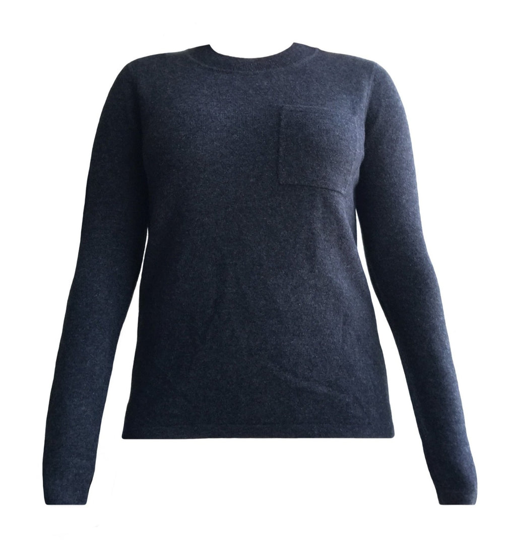 Cashmere Pocket Sweater in Charcoal