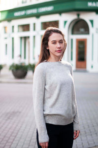Cashmere Roundneck Sweater in Flint