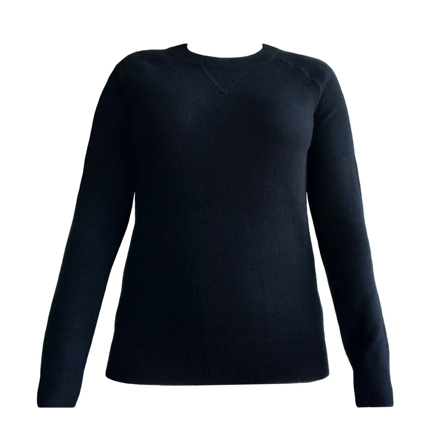 Cashmere Roundneck Sweater in Black