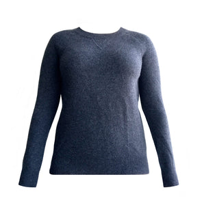 Cashmere Roundneck Sweater in Charcoal