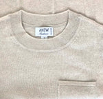 Cashmere Pocket Sweater in Sandstone