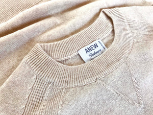 Cashmere Roundneck Sweater in Sandstone