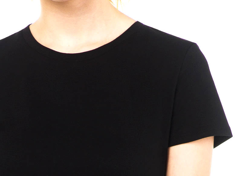 sustainable women's tee shirt organic cotton black