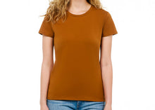 Load image into Gallery viewer, sustainable women's tee shirt organic cotton rust