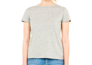 sustainable women's tee shirt organic cotton grey