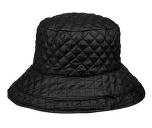 Quilted Stitch Water Resistant Bucket Hats