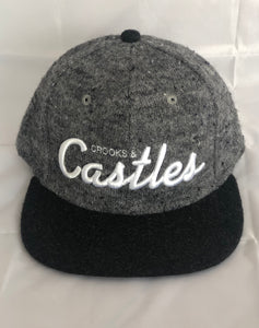 Crooks and Castles Snapback - Cursive Castles