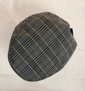 CLEARANCE - Burgandy, Brown & Navy Plaid Ivy Cap - Large Size Available