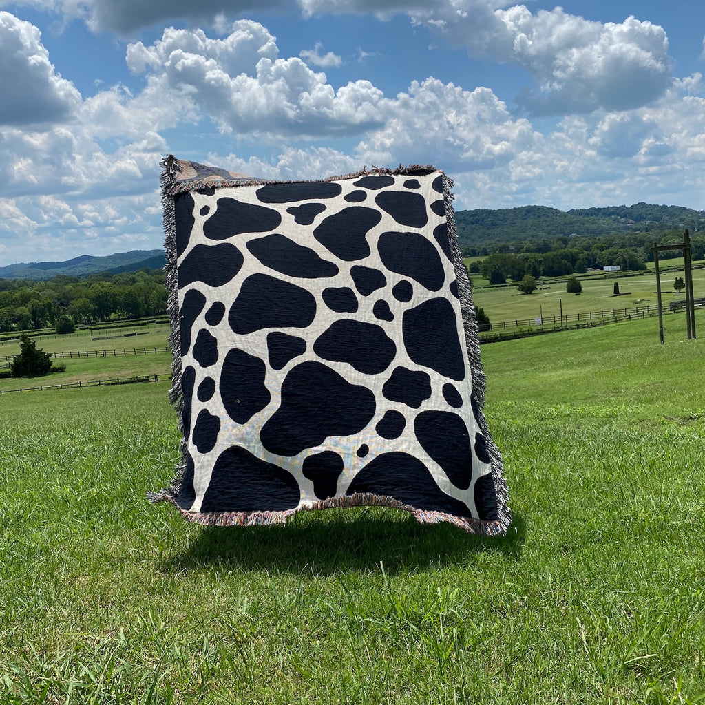 Cow Print Throw Blanket