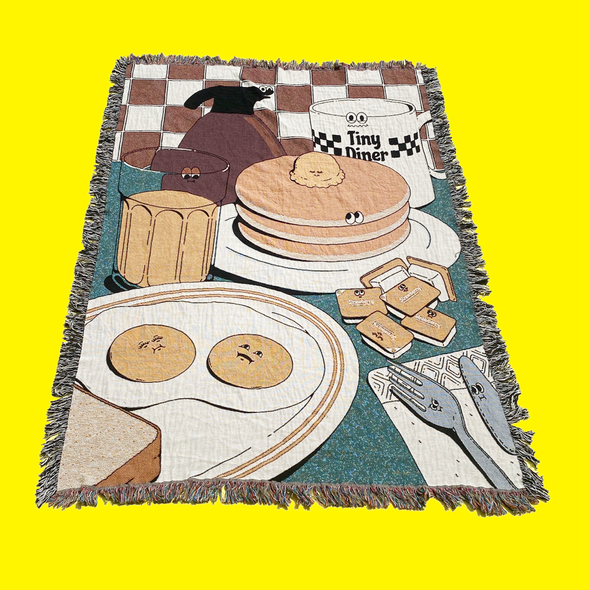 Tiny Diner Throw Blanket