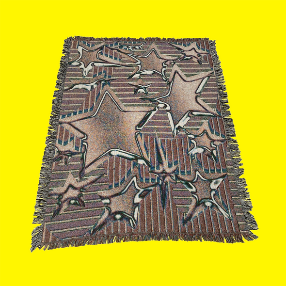 Chrome Star Throw Blanket