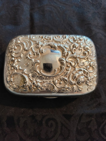 Vintage Silver Plated Vanity Soap/Trinket Box