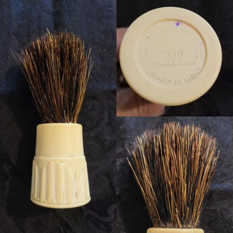 Vintage Used STRONG SET Shaving Brush