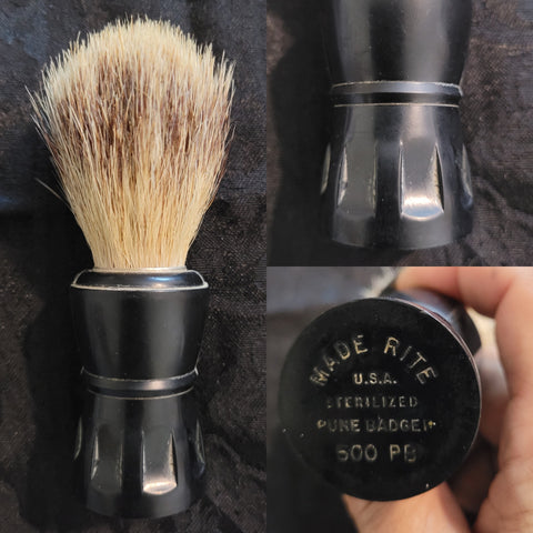 RARE Used Vintage MADE RITE Shaving Brush