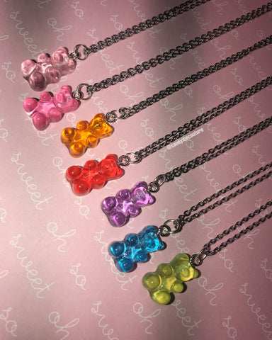 Gummy Bear Necklaces 🌈🐻