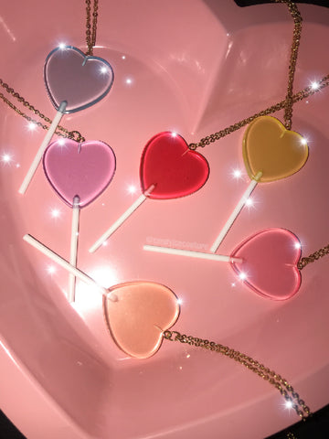 Sweet Heart Lollipop Necklaces 🍭🌈❤️