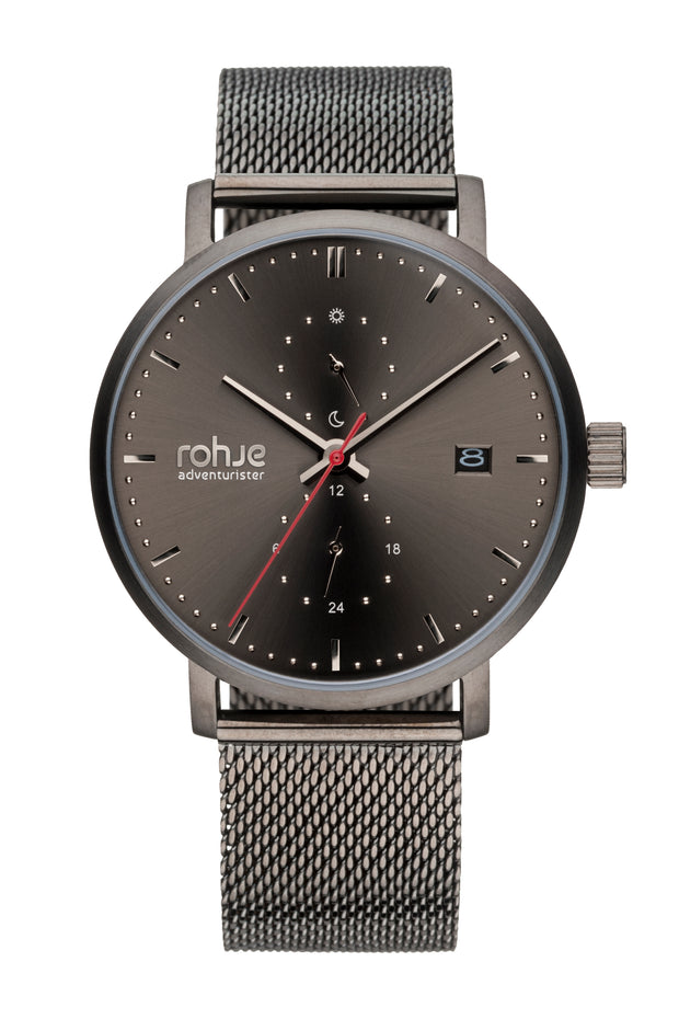 Adventurister Dark Watch, Dark Mesh Strap