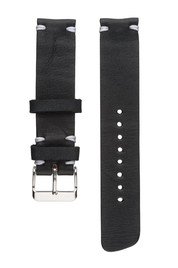Black Reindeer Leather Strap