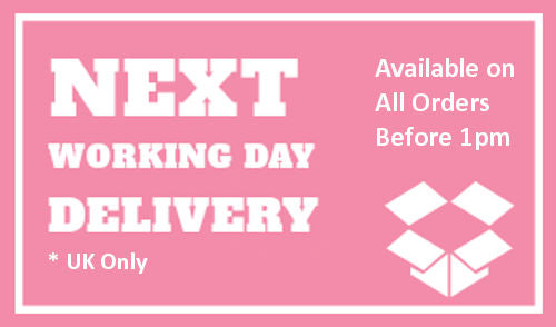 next working day delivery available for all orders placed before 1pm