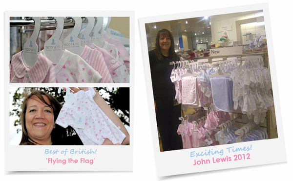 exciting times for teddy and me, flying the british flag and hitting the high street with John Lewis