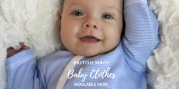 british made baby clothes designed and manufactured by teddy and me