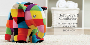 soft toys and comforters helping to soothe and amuse