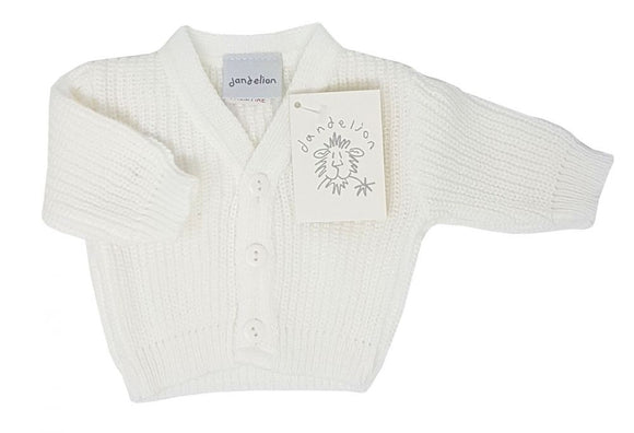 white premature baby cardigan